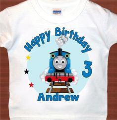 Thomas Train personalized t shirt birthday favor by happydigital