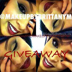 Huge makeup giveaway at www.instagram.com/makeupbybrittanym !! Entry is simple!