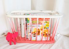 https://www.etsy.com/listing/156364549/coral-ombre-magazinemulti-purpose-rack?ref=shop_home_active  Upcycled coral ombre magazine/all purpose rack