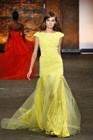 2013 Pantone Color | Lemon Zest - Christian Siriano Spring 2012 - #designer #lemonzest