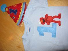 1st B-Day Elmo Shirt