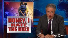 Jon Stewart thinks Fox News' coverage of the rise in child refugees from Central America may be just a bit over the top…