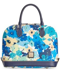 Dooney & Bourke Somerset Zip Zip Satchel, A Macy's Exclusive Style $170.99 A perennial favorite, this Dooney & Bourke satchel is updated in a fresh, multi-floral print and topped with polished double zippers for easy opening on-the-go.