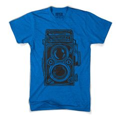Rolleiflex Camera Tee Blue, $21, now featured on Fab.