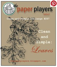The Paper Players PP267 challenge - Clean and Simples: Leaves.  http://tracyelsom.stampinup.net