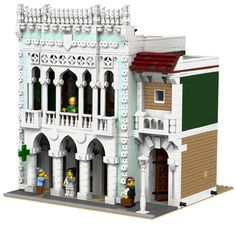 LEGO MOC MOC-6199 Modular Pharmacy and Library - building instructions and parts list.