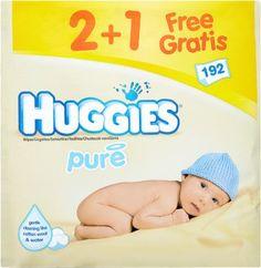 Huggies Pure Chusteczki pielęgnacyjne 2+1 GRATIS