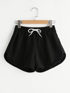Shop Drawstring Waist Dolphin Hem Shorts online. SheIn offers Drawstring Waist Dolphin Hem Shorts & more to fit your fashionable needs.