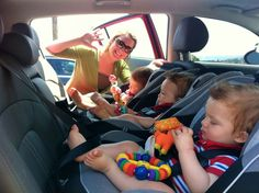 3 Car Seats Across One Row - Spontaneous Triplets Blog: Safety 1st - Guide 65 Sport Convertible Car Seat,