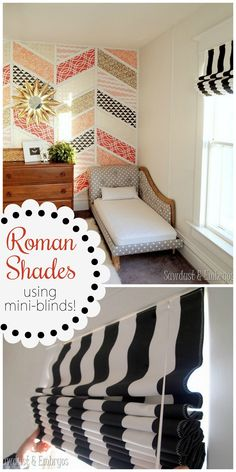 Make your own Roman Shades using your existing mini-blinds! {Reality Daydream}