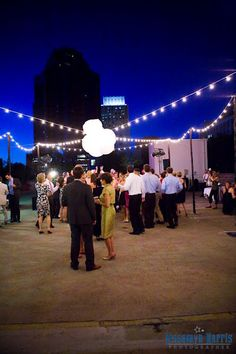 Downtown roof top wedding at night! It's going to be gorgeous!!