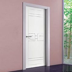 The beautiful prefinished San Rafael Lacada 943 FD30 Fire Door with panel designs. #lacadadoors