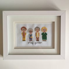 My birthday is in November, (or Yesvember, as Thea calls it!) so I've had no trouble finding a bunch of lovely things to share with you! 1. Golden Girls cross stitch picture. I love The Golden Girl...