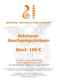 immer das perfekte Geschenk: Schmuck Warengutscheine von www.samakishop.com und samaki originals Engelrufer  ab 20 Euro möglich  hier gehts zu den Gutschein links von samakishop http://www.samakishop.com/epages/61220405.sf/de_DE/?ObjectPath=%2FShops%2F61220405%2FCategories%2FGutscheine%2FWarengutscheine