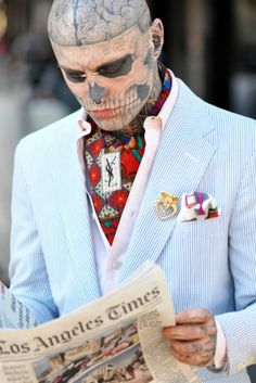 Rick Genest  Zombies can be dapper too