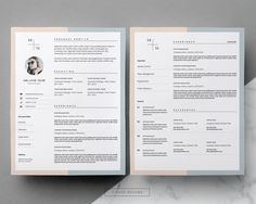 Elegant Resume Templates For Ms Word  Iwork Pages  Tasteful