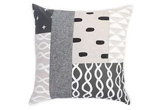 Patterned Patchwork Pillow V on OneKingsLane.com