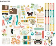 """Love these bits & pieces of the new """"I Am"""" collection from Simple Stories! I…"""