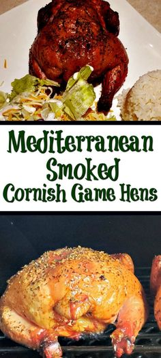 This Mediterranean Smoked Cornish Game Hens Recipe is the perfect way to smoke hens! The flavor is amazing from the rub and cold smoking on a pellet grill! Smoker Recipes, Grilling Recipes, Smoked Cornish Game Hens Recipe, Holiday Recipes, Dinner Recipes, Holiday Meals, Outdoor Cooking, Entrees, Main Dishes