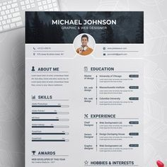 Resume Template 3 Page CV Template Cover Letter / Instant | Etsy Cover Letter Template, Cover Letter Design, Letter Templates, Creative Cv Template, Modern Resume Template, Resume Template Free, Free Resume, Microsoft Word, Create A Resume