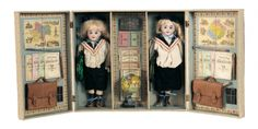 A Whispering of Dolls: 100 French Boxed Arrangement of Bisque School Children