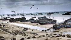 Stunning newly colorized PHOTOS bring D-Day back to life — RT World News French Beach, Battle Of Stalingrad, Normandy Invasion, Dwight Eisenhower, D Day Landings, Colorized Photos, Paratrooper, Popular Culture, Historian