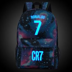 Luminous Mochila Mochilas Cristiano Ronaldo Backpack School Bags for Teenagers Boy Randoseru Sac A Dos Zaino Cool Space Rucksack