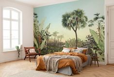 Would you like to embrace warm jungle feelings while you relax in your bedroom? Then you need to try the Divine Oasis mural. On sale now at Forest Homes. Oasis, Forest Wallpaper, Wall Wallpaper, Décoration Urban Jungle, Natural Home Decor, Diy Home Decor, Poster Xxl, Wall Design, House Design