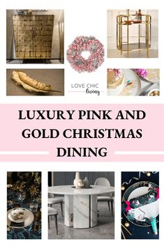 Dream Luxury Christmas Dining with Juliette's Interiors - fancy a pink and gold christmas dining theme this year? Check out these ideas from tables, to crackers to gold plates and accessories. Christmas decor has never looked this good.