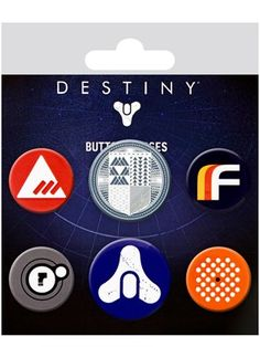 The perfect finishing touch for all players, this 6 pack of badges will bring the fantasy, sci-fi world of Destiny into the real world! With the three Factions symbols alongside the Social Hub emblem and the iconic Destiny logo, pop these badges onto anything for an instant touch of gaming greatness! Official merchandise.