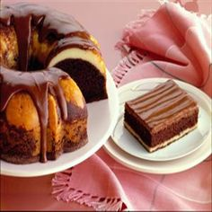 Fudge Ribbon Cake from Pillsbury® Baking Great Desserts, Delicious Desserts, Dessert Recipes, Yummy Food, Dessert Ideas, Cupcake Recipes, Crisco Recipes, Baking Recipes, Ribbon Cake
