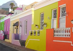 Colorful houses Bo-Kaap Cape Town South Africa Canvas Art - David Wall DanitaDelimont x African Hut, Hut House, Cape Town South Africa, Photos Voyages, Colorful Houses, Blank Walls, Beach Landscape, House Floor Plans, House Colors