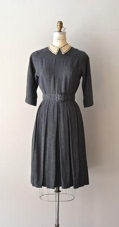 Good Faith dress / gray 1950s dress / vintage 50s by DearGolden