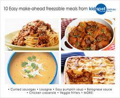 10 easy make-ahead freezer meals