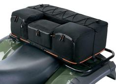 "QuadGear Extreme ATV Rear Rack Bag & Cooler  This rugged ATV cargo bag offers a cooler and storm shield and fits almost any ATV rear rack. Cargo bag dimensions: 30""W x 12""D x 11""H. $88.95"
