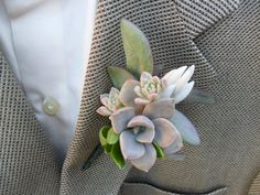Beautiful Bridal: Succulent Boutonnieres