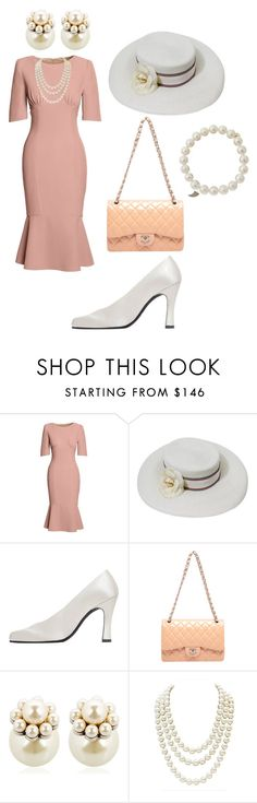 """""""vintage look"""" by fashionblogger2122 on Polyvore featuring Canvas by Lands' End, Chanel, Charles Jourdan, Mawi, Sydney Evan and vintage"""