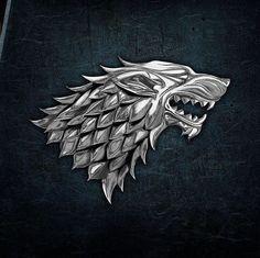 House Stark Sigil, Game Of Thrones Houses, Brooch, Films, Gaming, Dragon, Fandom, Fantasy, Inspiration