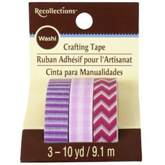 Clothing & Grooming  Recollections™ Washi Tape, Purple Basics