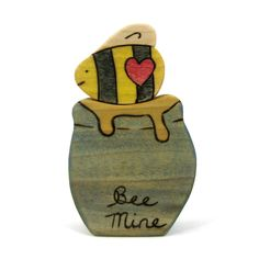 Time to shop for Valentine's Day! Bee Mine Set - Valentine's Day Toy - Gift - Kids Toy - Wooden Toy - Handmade Toy - Waldorf Toy - Wood Toy. $14.00, via Etsy.