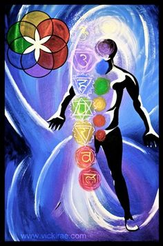 Let It Be Done To You  (a painting of the seed of life & chakras  come 'like' & share my facebook page http://www.facebook.com/VickiLynnRae)
