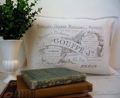 My Country Cottage Garden: A new style: My first Vintage pillow