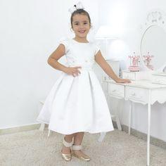 Sapatilha infantil Branca em aplicação (Batizado)(Daminha)