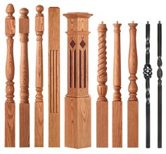Interior Shutters For Sale Wooden Staircase Railing, Wood Handrail, Wrought Iron Stairs, Interior Staircase, Wooden Stairs, Staircase Design, Interior Shutters, Railing Design, Stair Newel Post