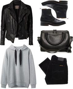 Style - Minimal + Classic: Untitled #261 par letmepaintyouapicture utilisant veste en cuir