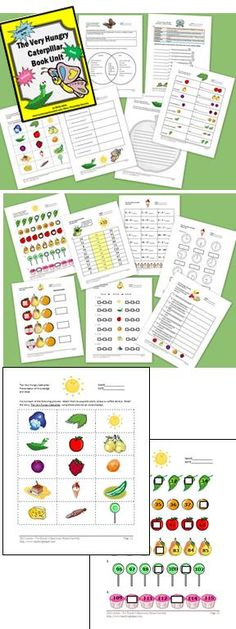 This 45 page teaching unit of Hungry Hungry Caterpillar activities is designed to supplement the book, The Very Hungry Caterpillar by Eric Carle. It focuses on lower elementary math and language arts standards, primarily for grades one and two.
