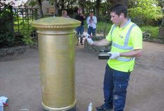 THE only postbox on Sark being painted gold to celebrate the Gold Medal won by an islander at the Olympics 2012.
