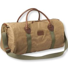 Heritage Waxed Canvas Duffle Bag Brown   L.L.Bean