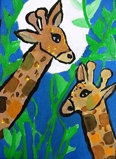 Giraffe art lesson