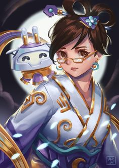 Ali Bayle Illustrator Chang'e Mei Overwatch came out with some great skins this Lunar New Year. The Chang'e skin is my favorite of the bunch.